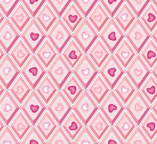Herzmuster. es ist ein Mädchen nahtloses Muster. Rautenmuster. vektor