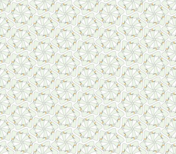 Abstrakt orientaliskt blommigt sömlöst mönster. Blom geometrisk prydnads bakgrund. vektor