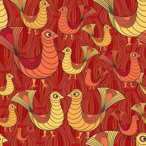 Vogel Muster. Bauernhof Vogel Muster. Viehschmuck. vektor