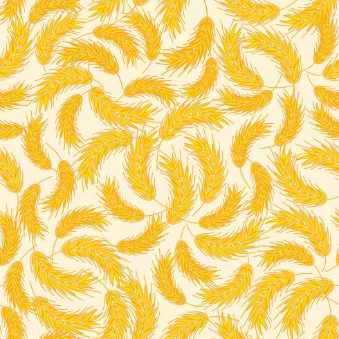 Brödkornet sömlöst mönster. Mat näring bakgrund. vektor