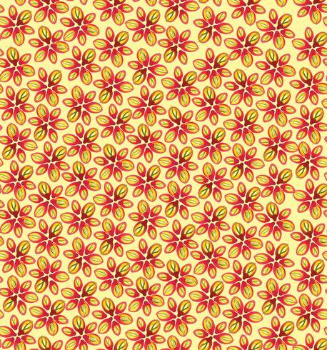 Nahtlose Blümchenmuster Blumenblüte Hintergrund. vektor