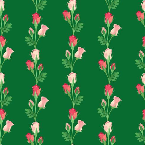 Blommigt sömlöst mönster. Blomma ros bakgrund. vektor