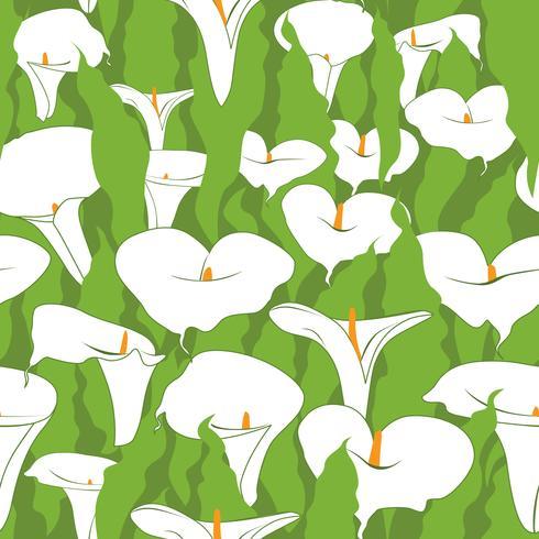 Blommigt sömlöst mönster. Abstrakt blommig bakgrund. vektor