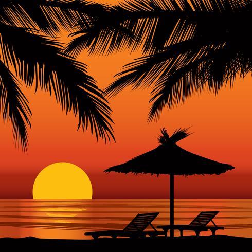 Sommerferien Hintergrund. Blick aufs Meer. Tapete des Strandurlaubsorts vektor