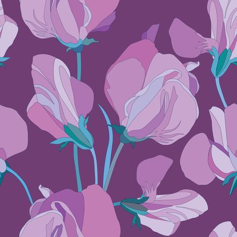 Nahtlose Blümchenmuster Blumenstrudelhintergrund. Blumenornamen vektor