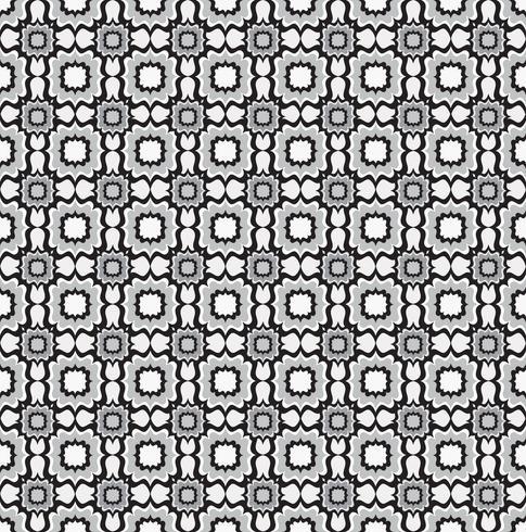 Sömlöst linjemönster. Abstrakt blommig prydnad. Geometrisk struktur vektor