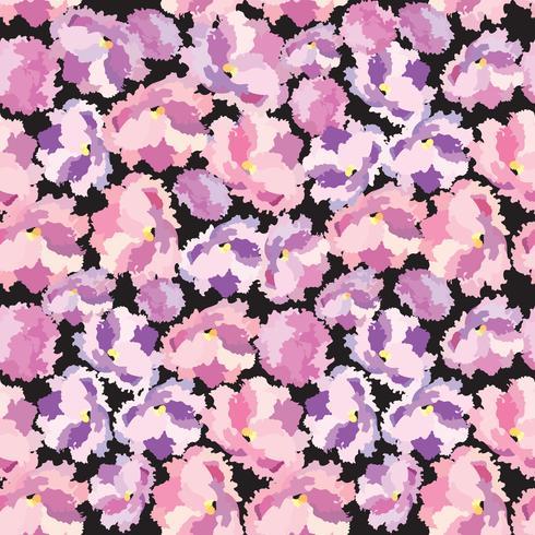 Abstrakt blommig prydnad Blomma kronblad sömlös mönster Swirl blommig konsistens vektor