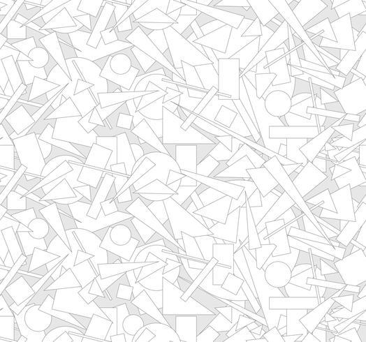 Abstrakt geometrisk form sömlös mönster Chaotic flöde bakgrund vektor
