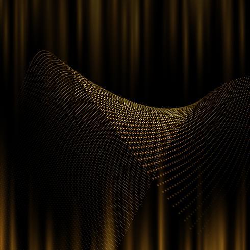 Abstrakt bakgrund av gyllene prickar vektor