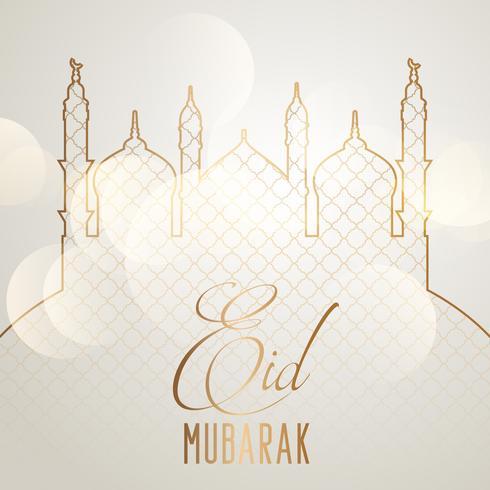Elegant Eid Mubarak bakgrund vektor