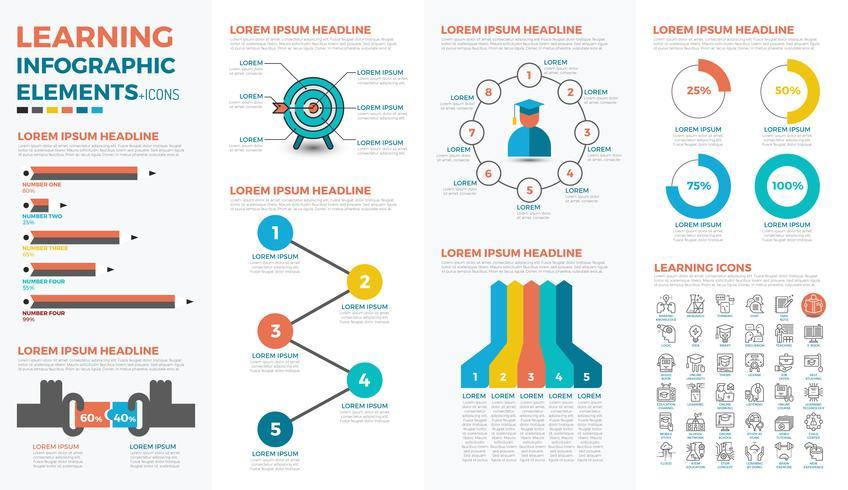 Lärande begrepp infographic vektor