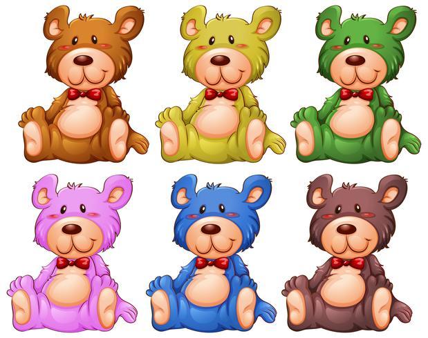 Set von Teddybären vektor