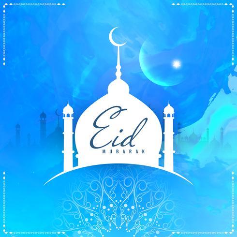 Abstrakt stilig Eid Mubarak bakgrund vektor