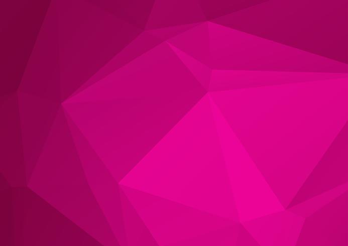 Rosa abstrakter geometrischer zerknitterter dreieckiger niedriger Polyartvektorillustrations-Grafikhintergrund vektor