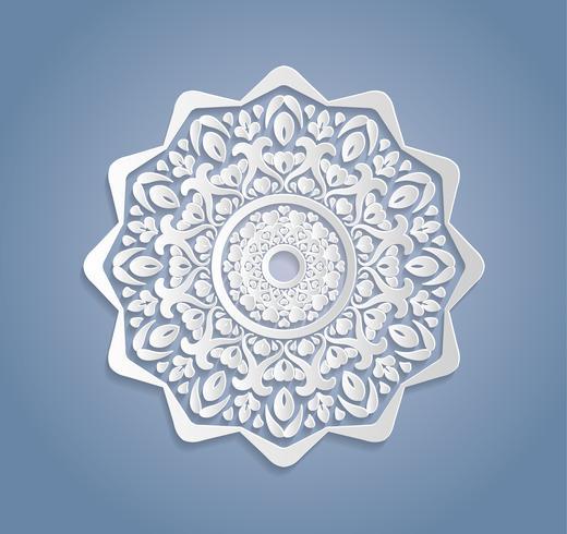 Karten oder Einladungen mit Mandalamuster Von Hand gezeichnete in hohem Grade ausführliche Mandalaelemente der Vektorweinlese. Festliche Verzierungskarte der Luxusspitze. Islamische, arabische, indische, türkische, osmanische, pakistanische Motive. vektor