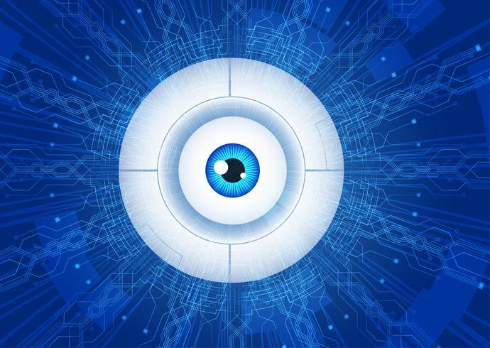 abstrakt ögonkommunikationskommunikationskoncept. vektor
