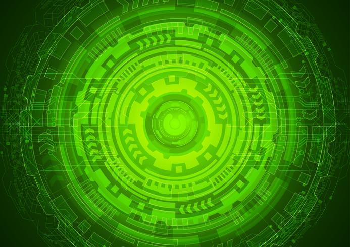 Green Eye Cyber Security Concept, abstrakt höghastighets digitalt internet. framtida teknik, vektor bakgrund.