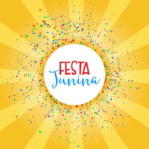 Festa Junina Feier Hintergrund vektor
