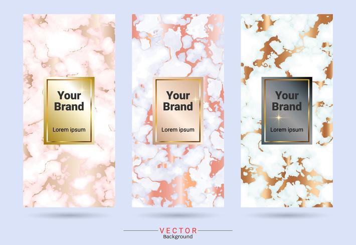 Förpackning produktdesign etikett och klistermärke mall. vektor