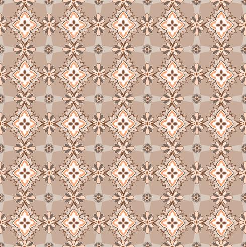 Seamless mosaikmönster Sammanfattning blommig prydnad Oriental tygstruktur vektor