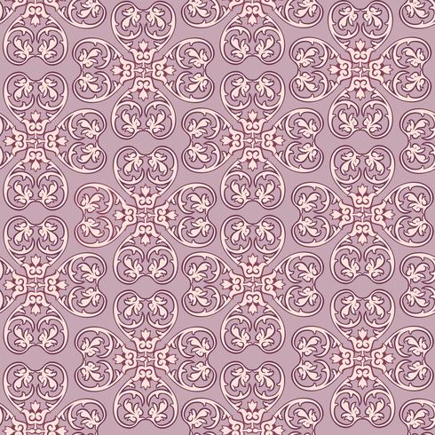 Line blommönster. Abstrakt prydnad. Brocade sömlös bakgrund vektor