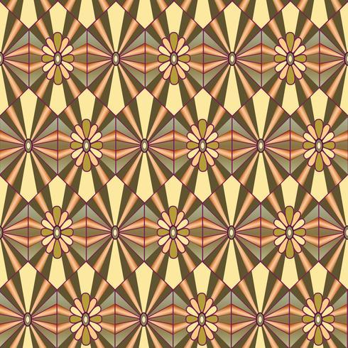 Abstraktes Blumenmuster. Stilvolle geometrische nahtlose Verzierung vektor