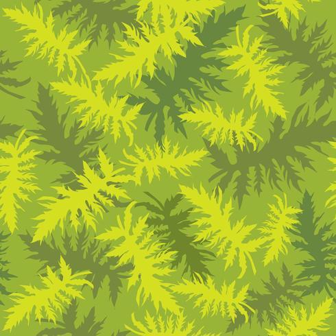 Tropkalen lämnar sömlöst mönster. Vacker floral bladbakgrund. vektor