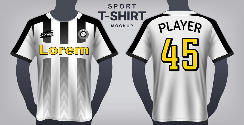 Fußball Jersey und Sport T-Shirt Mockup Template. vektor