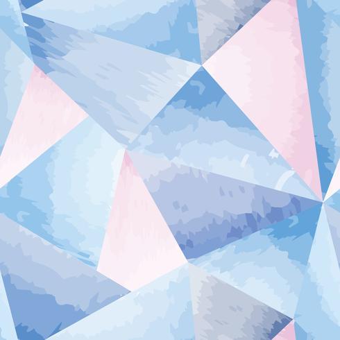 Abstrakt sömlös mönster Geometrisk form akvarell bakgrund vektor