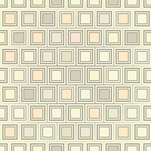 Abstraktes geometrisches Formularmuster. Quadratische Verzierung. Fliesen Hintergrund vektor
