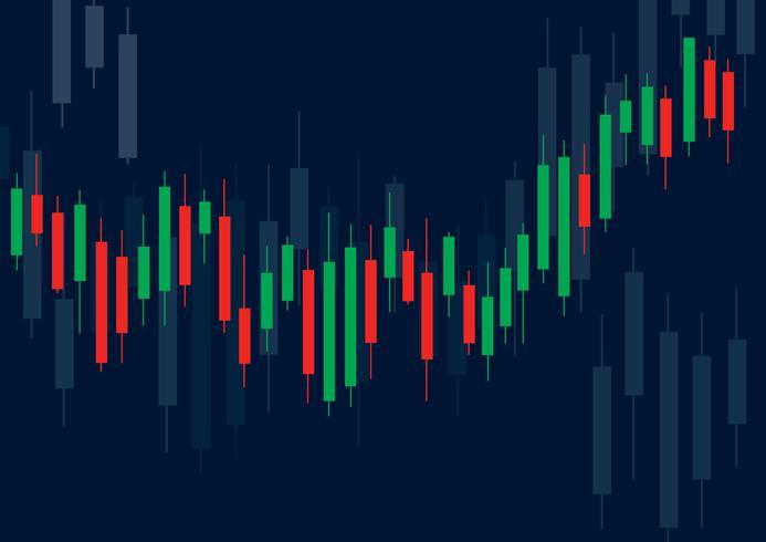 Lysstake börsen bakgrund vektor