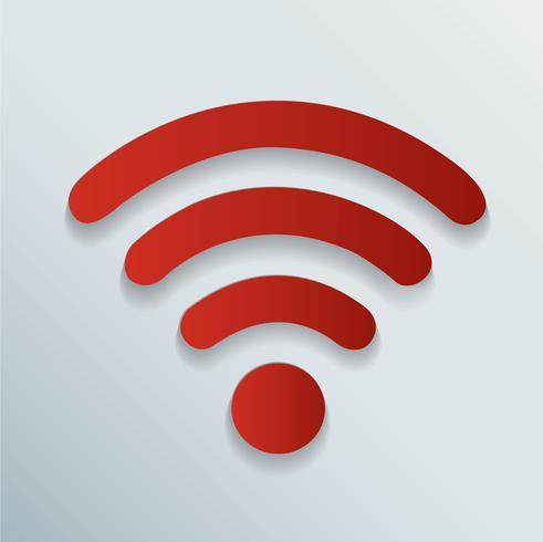 trådlös och wifi ikon symbol vektor