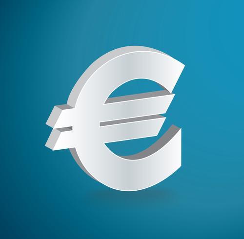 EURO ikon symbol vektor