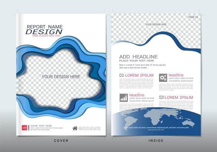 Täcker design med plats för fotobakgrunder. vektor