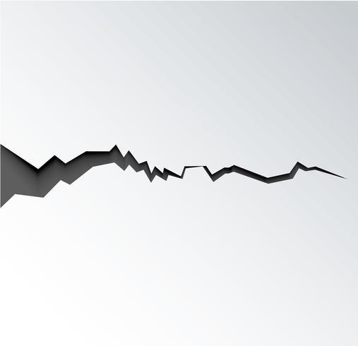Riss im Boden nach Erdbeben der Riss an der Oberfläche vektor