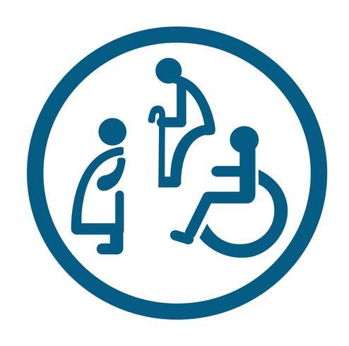 Bad für Menschen mit Behinderungen. Behinderte Toilette Zeichen vektor