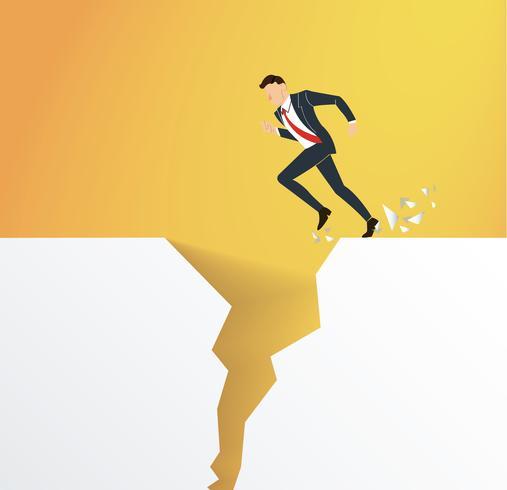 affärsproblem övervinna hinderkrisen riskbegreppet vektor