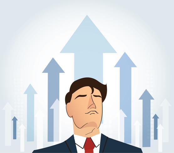 Konzept Illustration. Ziel erreichen. Wachstum zum Erfolg. vektor
