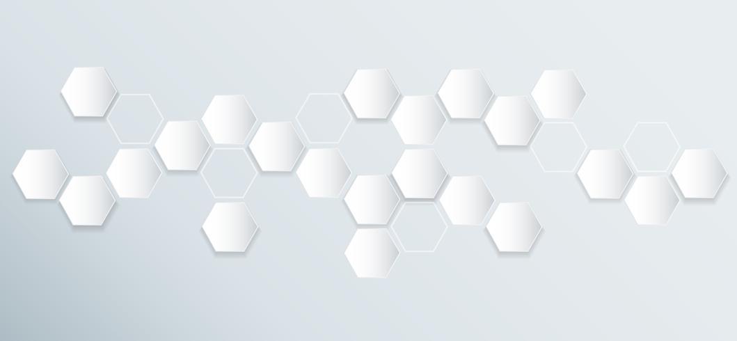 abstrakte Sechseck Biene Bienenstock Hintergrund vektor