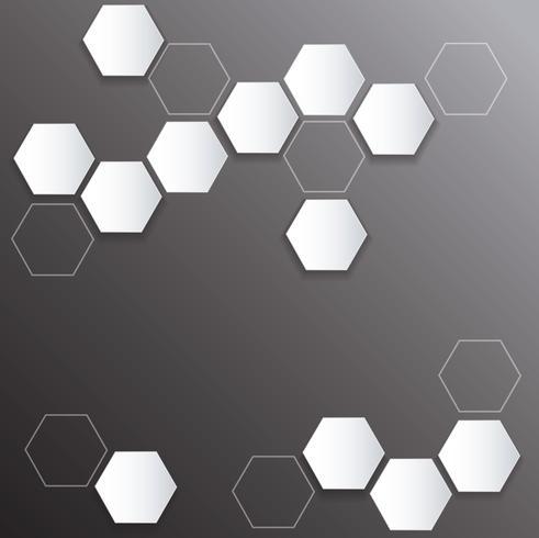 abstrakt bikupa hexagon bakgrund vektor