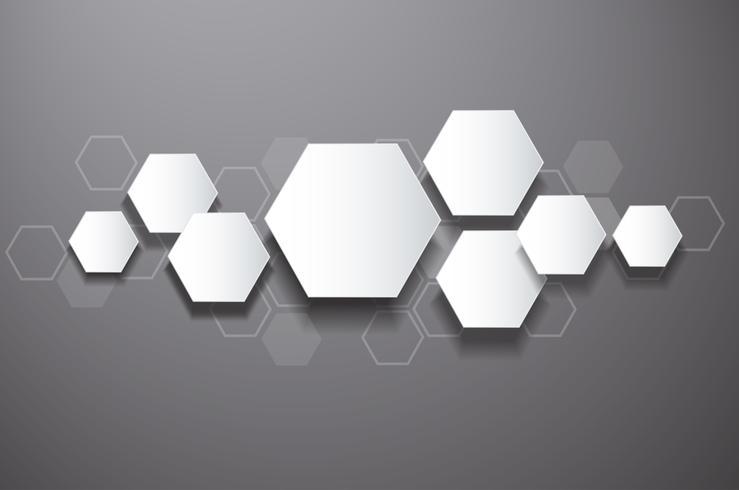 abstrakter Bienenstockdesign-Hexagonhintergrund vektor