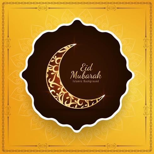 Abstrakt religiös islamisk Eid Mubarak bakgrund vektor