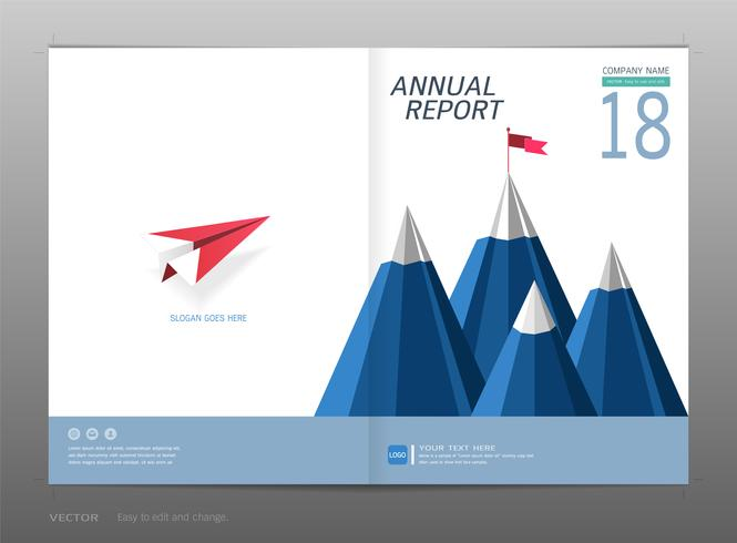 Cover design årsrapport, Ledarskap och startkoncept. vektor