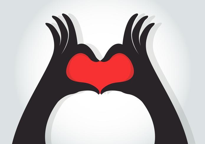 Hände machen ein Herzsymbol vektor
