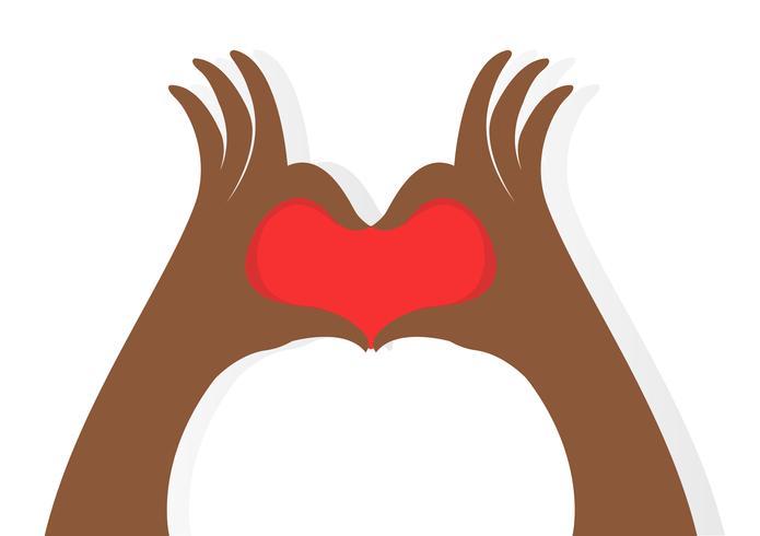 Hände machen ein Herz-Symbol vektor