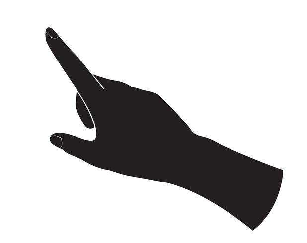 Pekande fingrar vektor