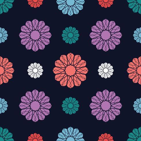 Nahtloser Hintergrund des Blumenmotivs vektor