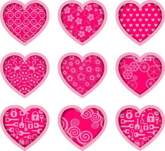 Valentines ikoner vektor