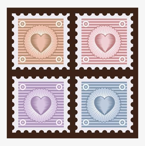 Alte Briefmarken vektor