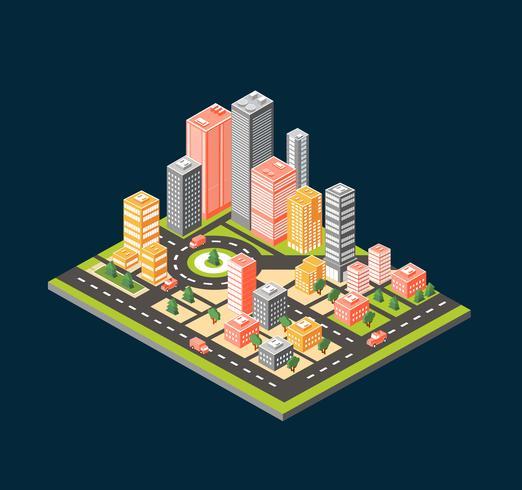 City stil lägenhet vektor